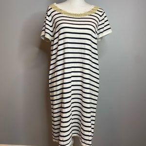 Michael Kors Cotton Strip Dress XL